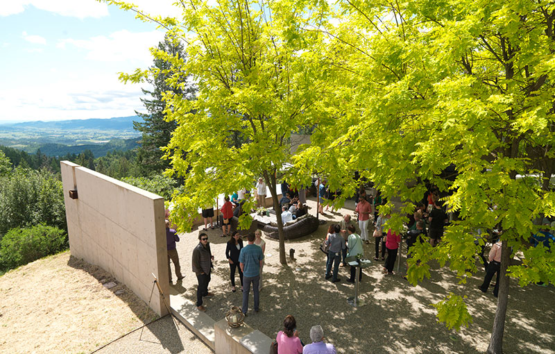 Courtyard Aerial View with People
