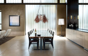 Wine Tasting Room with Banquet Style Table